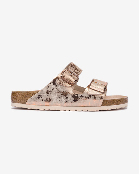 Birkenstock Arizona Vintage Metallic Rose Kapcie